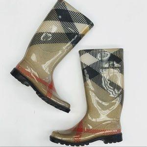Burberry tall rain boots 8.5